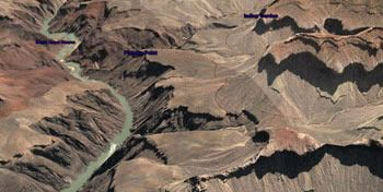 Il Grand Canyon visto dal satellite