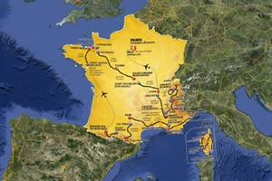 Mappa Tour de France 2013