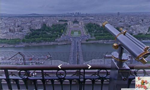 Visita alla Tour Eiffel su Google Maps